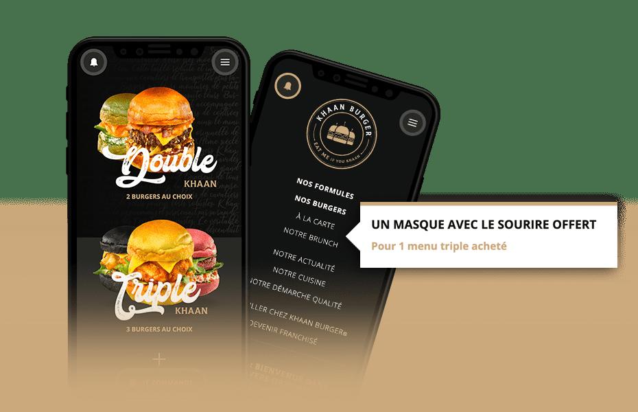 creation logo marque franchise socreativ khaan burger