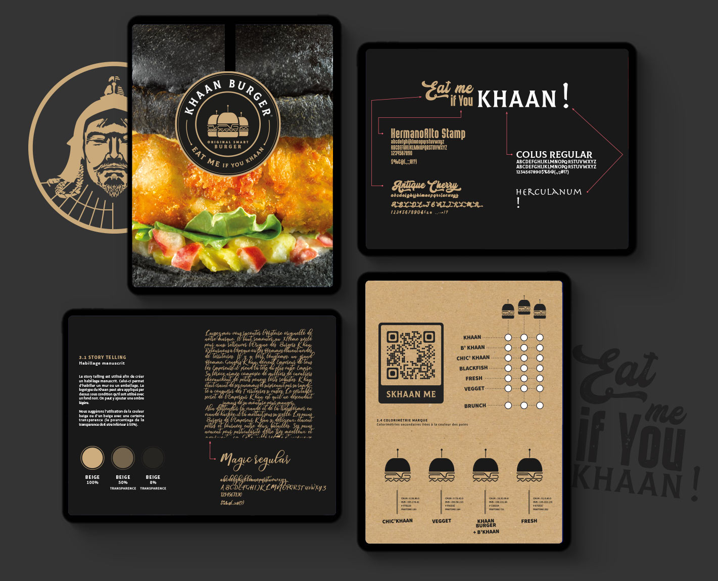 creation logo marque franchise socreativ vincent perillat khaan burger